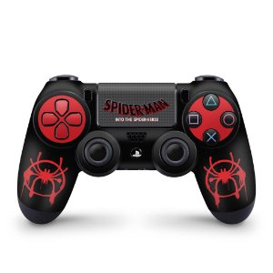 Skin PS4 Controle - Homem-Aranha no Aranhaverso