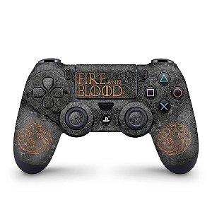 Skin PS4 Controle - Game of Thrones Targaryen