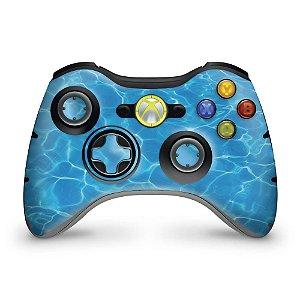 Skin Xbox 360 Controle - Aquático Água