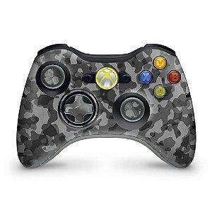 Skin Xbox 360 Controle - Camuflagem Cinza