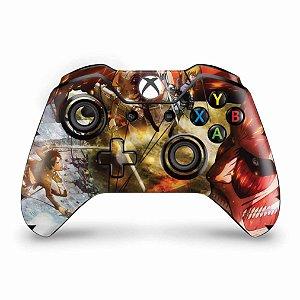 Skin Xbox One Fat Controle - Attack on Titan #A