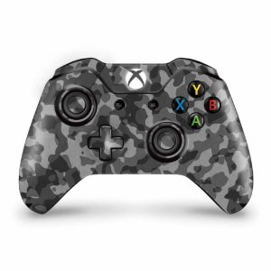 Skin Xbox One Fat Controle - Camuflagem Cinza