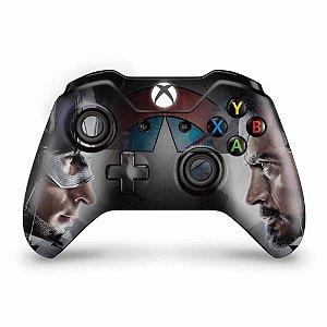 Skin Xbox One Fat Controle - Capitão America - Guerra Civil