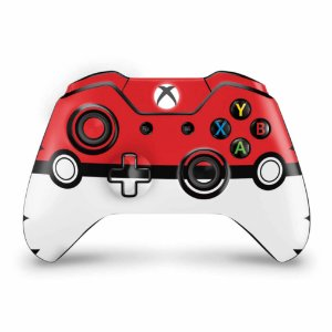 Skin Xbox One Fat Controle - Pokemon Pokebola