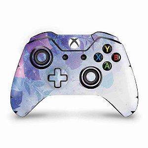 Skin Xbox One Fat Controle - Folhas Lilás