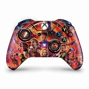 Skin Xbox One Fat Controle - Os Vingadores: Guerra Infinita