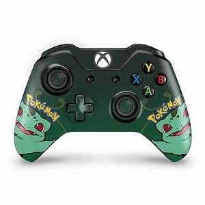 Skin Xbox One Fat Controle - Pokemon Bulbasaur