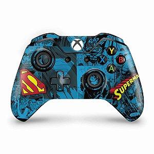 Skin Xbox One Fat Controle - Super Homem Superman Comics