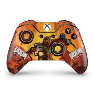 Skin Xbox One Fat Controle - Doom Eternal