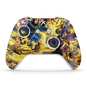 Skin Xbox One Slim X Controle - Cavaleiros do Zodiaco