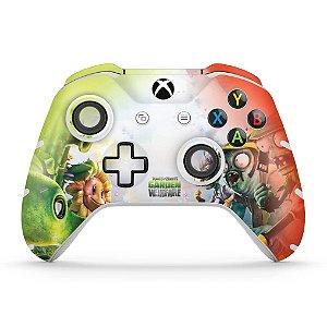 Skin Xbox One Slim X Controle - Plants Vs Zombies Garden Warfare