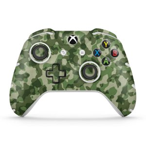 Skin Xbox One Slim X Controle - Camuflagem Verde