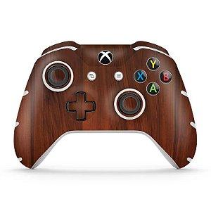 Skin Xbox One Slim X Controle - Madeira