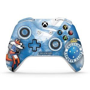 Skin Xbox One Slim X Controle - Cruzeiro