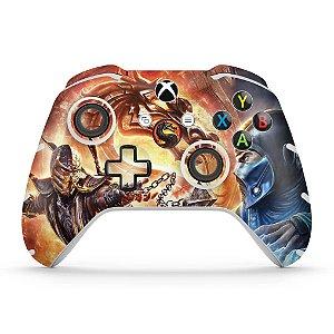 Skin Xbox One Slim X Controle - Mortal Kombat