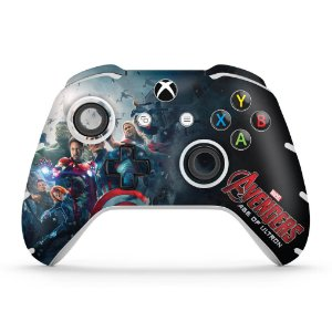 Skin Xbox One Slim X Controle - Avengers - Age of Ultron