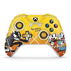 Skin Xbox One Slim X Controle - Cuphead