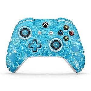 Skin Xbox One Slim X Controle - Aquático Água