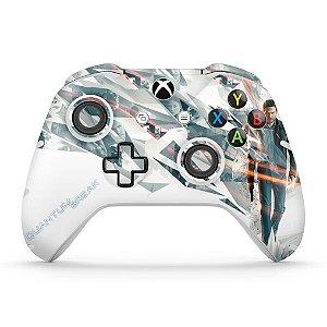 Skin Xbox One Slim X Controle - Quantum Break