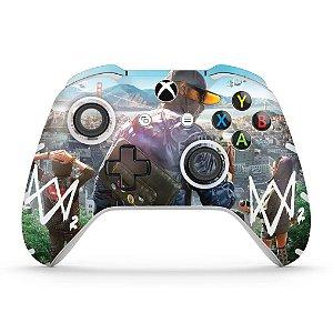 Skin Xbox One Slim X Controle - Watch Dogs 2