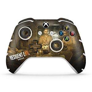 Skin Xbox One Slim X Controle - Resident Evil 7: Biohazard