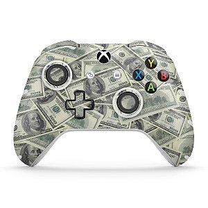 Skin Xbox One Slim X Controle - Dollar Money Dinheiro