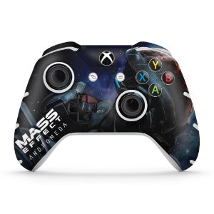 Skin Xbox One Slim X Controle - Mass Effect: Andromeda