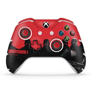Skin Xbox One Slim X Controle - Wolfenstein 2 New Order
