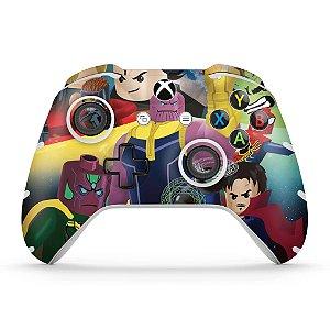 Skin Xbox One Slim X Controle - Lego Avengers Vingadores