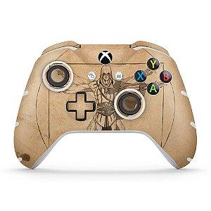 Skin Xbox One Slim X Controle - Assassin's Creed Vitruviano