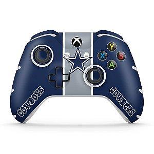 Skin Xbox One Slim X Controle - Dallas Cowboys NFL