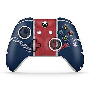 Skin Xbox One Slim X Controle - New England Patriots NFL