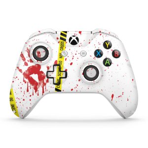 Skin Xbox One Slim X Controle - Cena de Crime Scene