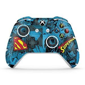 Skin Xbox One Slim X Controle - Super Homem Superman Comics