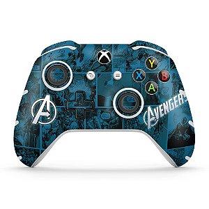 Skin Xbox One Slim X Controle - Avengers Vingadores Comics
