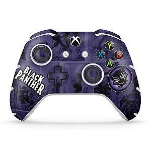 Skin Xbox One Slim X Controle - Pantera Negra Comics