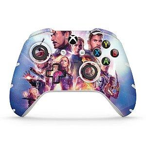 Skin Xbox One Slim X Controle - Vingadores Ultimato Endgame