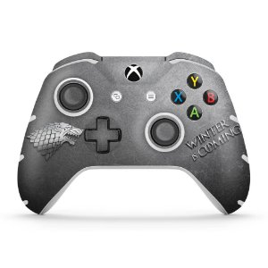 Skin Xbox One Slim X Controle - Game Of Thrones Stark