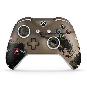 Skin Xbox One Slim X Controle - World War Z