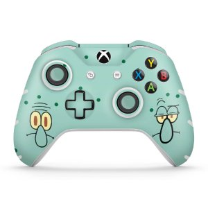 Skin Xbox One Slim X Controle - Lula Molusco Bob Esponja