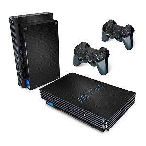 PS2 Fat Skin - Aço Escovado Preto
