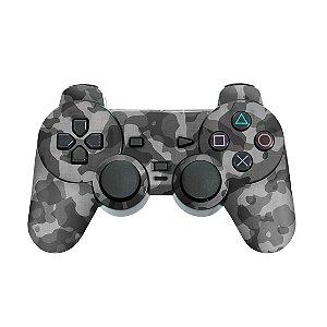 PS2 Controle Skin - Camuflada Cinza