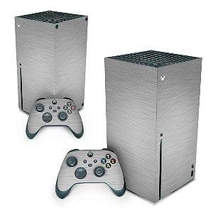 Xbox Series X Skin - Aço Escovado Cinza