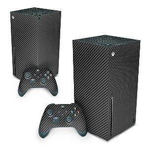 Xbox Series X Skin - Fibra de Carbono Preto