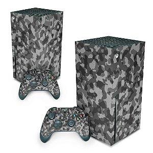 Xbox Series X Skin - Camuflado Cinza