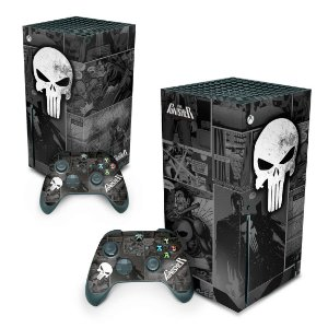 Xbox Series X Skin - The Punisher Justiceiro Comics