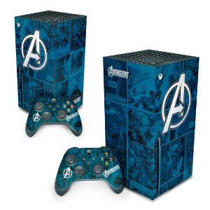 Xbox Series X Skin - Avengers Vingadores Comics