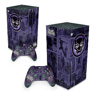 Xbox Series X Skin - Pantera Negra Comics