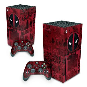 Xbox Series X Skin - Deadpool Comics
