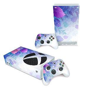 Xbox Series S Skin - Folhas Lilás